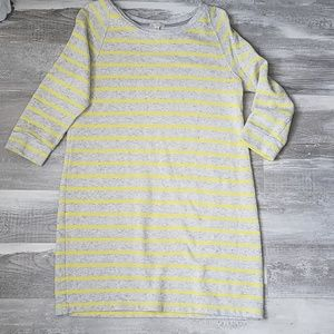 GAP - french terry stripe sweatshirt dress
